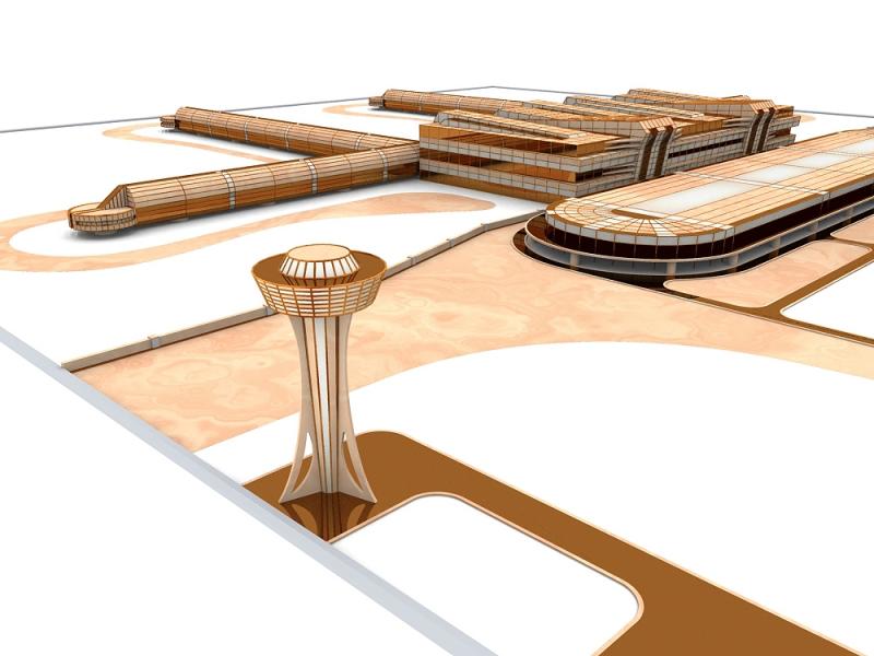 Макет-схема развития Аэропорта